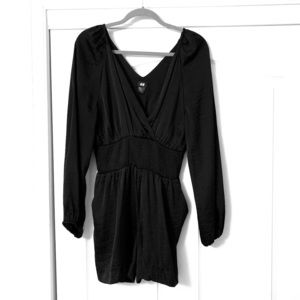 H&M Black Satin Romper